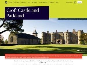 Croft Castle Park Land website screenshot