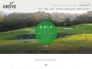 Grove Golf Club Bowling Alley website screenshot