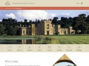 Hampton Court Castle website screenshot