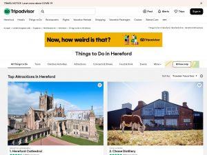 Tripadvisor screenshot of 'Things to do in Herefordshire'