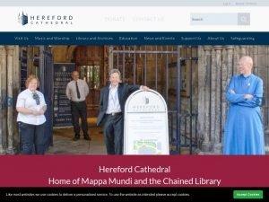 Hereford Cathedral website screenshot