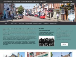 Leominster website screenshot
