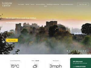 Ludlow Castle website screenshot