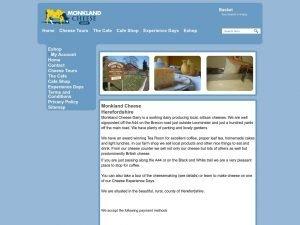Monkland Cheese Shop website screenshot