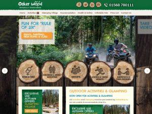 OakerWoodLeisure website screenshot