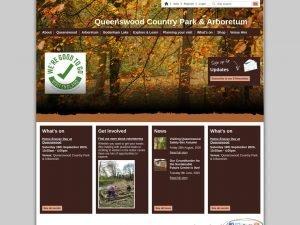 Queenswood Country Park Arboretum website screenshot