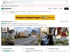 TripAdvisor Ritas Tearooms Eardisland website screenshot