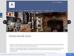 The Cross Inn Eardisland website screenshot