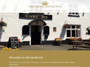 The Crown Inn Dilwyn website screenshot