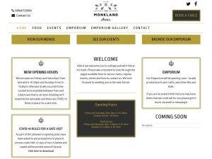 The Monkland Arms website screenshot