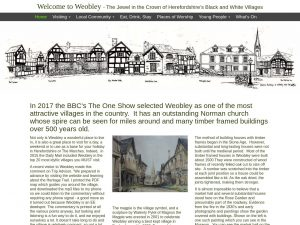 Welcome to Weobley website screenshot